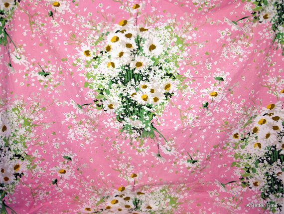 Designer upholstery material yardage pink floral by RetroRecycle
