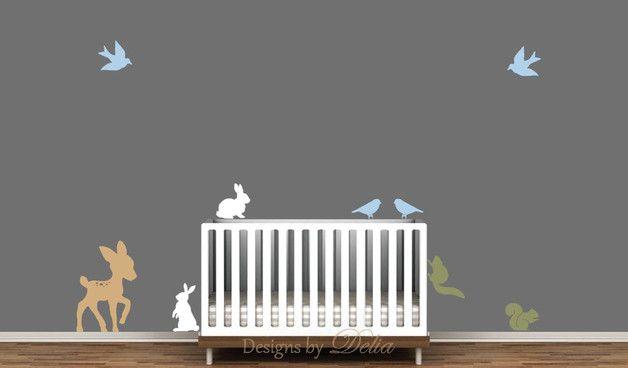 Wandtattoos sind so eine intelligente Weise, Ihr kleines irgendjemandes Raum einen dramatischen Wandel geben  Nursery Wandtattoo Tier abnehmbaren Tier Abziehbilder Baby-Kinderzimmer...