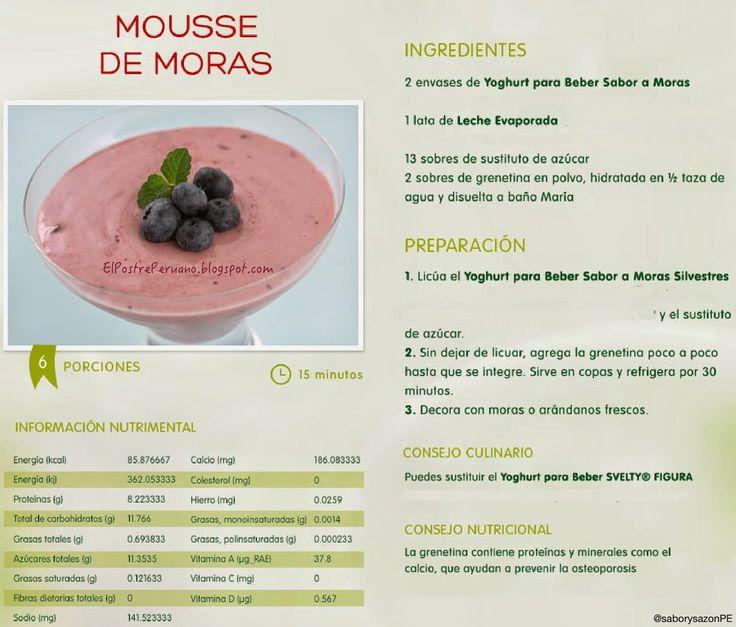 #Recetas #Mousse #Moras