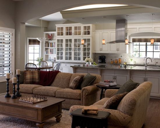 Open kitchen great room design pictures remodel decor - Open kitchen designs with living room ...