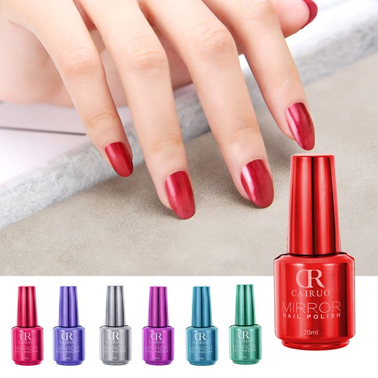 CR Brand 20ML 12 Color Long Lasting Manicure Quick Dry Nail Art Mirror Effect Chrome Varnish Metal Nail Polish DIY -- BuyinCoins.com