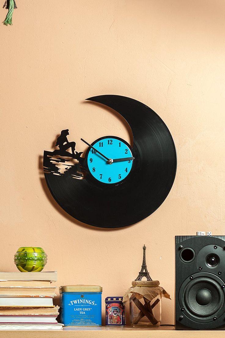 Amazon.com: Уникальная кухня Часы настенные Mermaid - Часы для дома - Кухонные настенные часы - Виниловые настенные часы Русалка - виниловые пластинки для украшения - декоративные часы - Русалка: Дом и Кухня