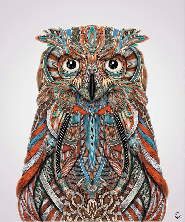 """Eagle Owl"" digital painting by Giulio Rossi https://goo.gl/rsA67T"