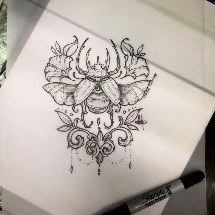 #tattoo #tatuaje #escarabajo #beetle #beetletattoo #tattooescarabajo #girltattoo #sketch #tattoosketch #tattoartist #tatuadora #cutetattoo #femaletattoo #linework #lineworktattoo