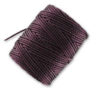 Filo C-Lon Tex 400 Bead Cord mm. 0,90 Eggplant x m. 35 : Filo C-LON particolarmente adattato al micro-macramé, al kumihimo, all'uncinetto, alla tessitura a mano