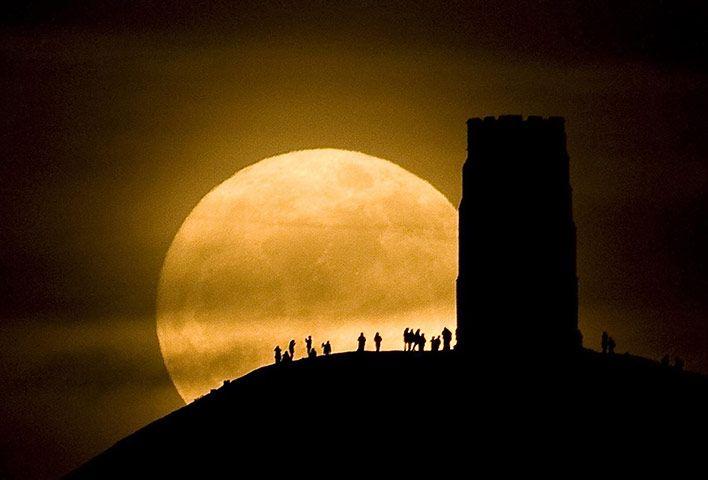 Full Moon over Glastonbury Tor