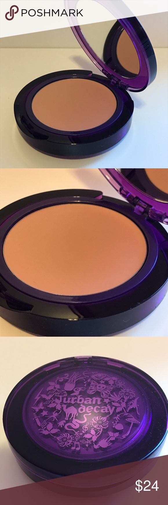 """Urban Decay cream to powder foundation Haze Urban Decay cream to powder foundation in """"Haze"""" (medium/light tan). Brand new, never used. No box. Discontinued. Includes applicator brush. Full size mirrored compact .28oz. No trades. Makeup Foundation"""
