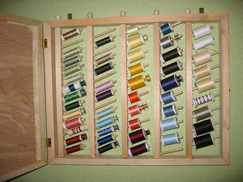 Outside is a memo board, inside thread storage!
