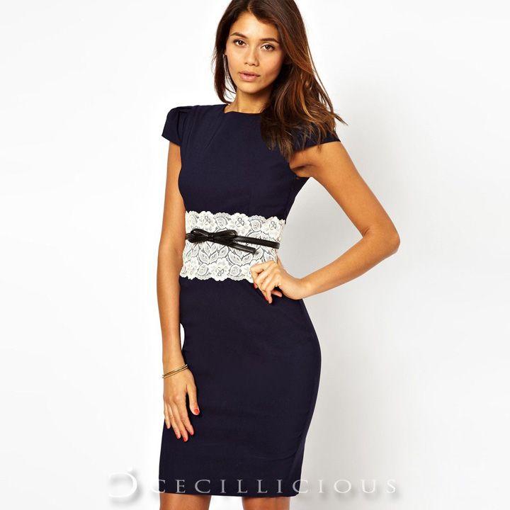 Livvy Blue Lace Mididress