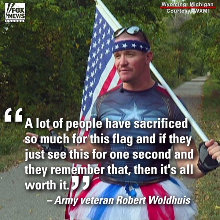 """News Videos & more -  """"The flag is a very important thing for me.""""  Army veteran Robert Woldhuis carri... #Music #Videos #News Check more at https://rockstarseo.ca/the-flag-is-a-very-important-thing-for-me-army-veteran-robert-woldhuis-carri/"""