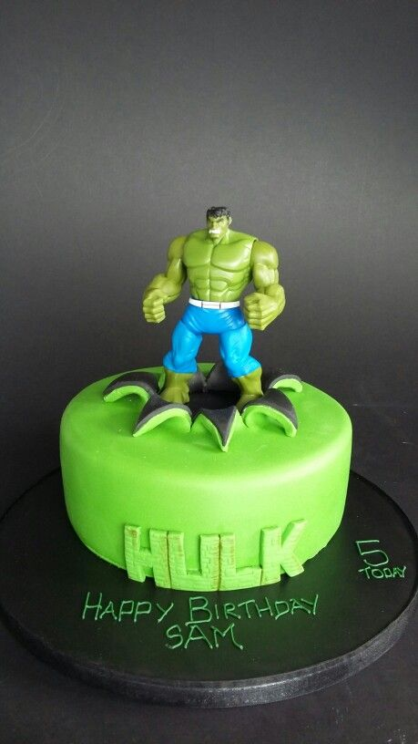 Incredible ...Hulk cake to share and a toy to keep!