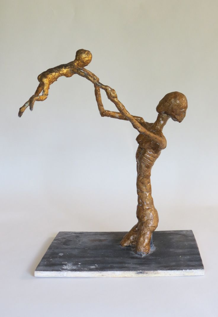 Mother and child sculpture http://www.decorativemodern.co.uk/decorativemodern/mother-and-child-sculpture-by-bill-young/