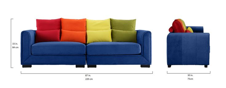Classic 2 Piece Colorful Velvet Convertible Living Room