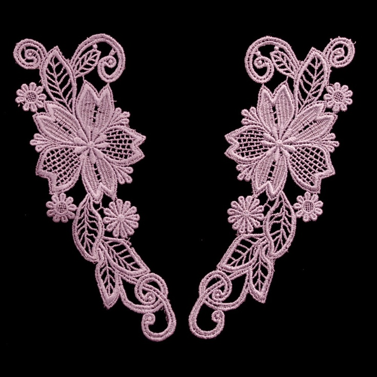 Vintage Lace Venise Lace Applique II Lavender (Only One Pair Available) sku# L5005  $8.00