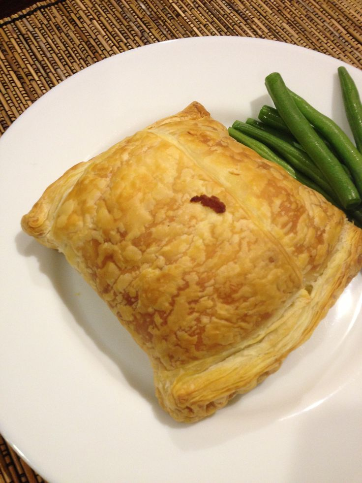 CHICKEN, HAM & CHEESE PASTRY - Diced chicken breast fillet, Adam's own double smoked ham & tasty cheese wrapped in puff pastry.  Bake in 180°C over for half an hour.  KIDS LOVE THESE! #adamsfamilymeats #readypreparedmeal #chickenhamandcheesepastry #chickenpastry #chicken #pastries #poultry