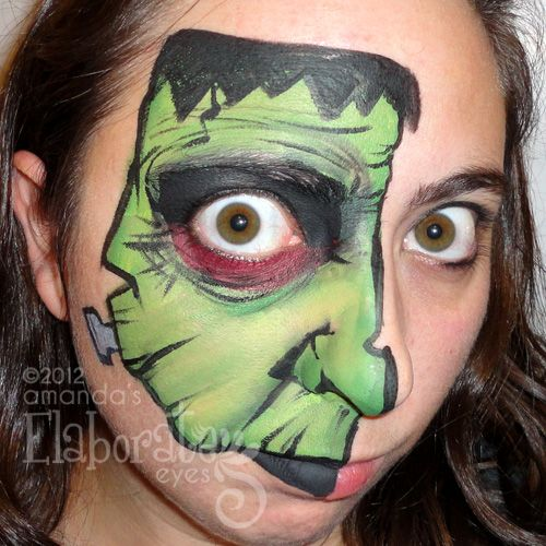 Boy Face Painting Designs | Amanda's Elaborate Eyes Face & Body Painting