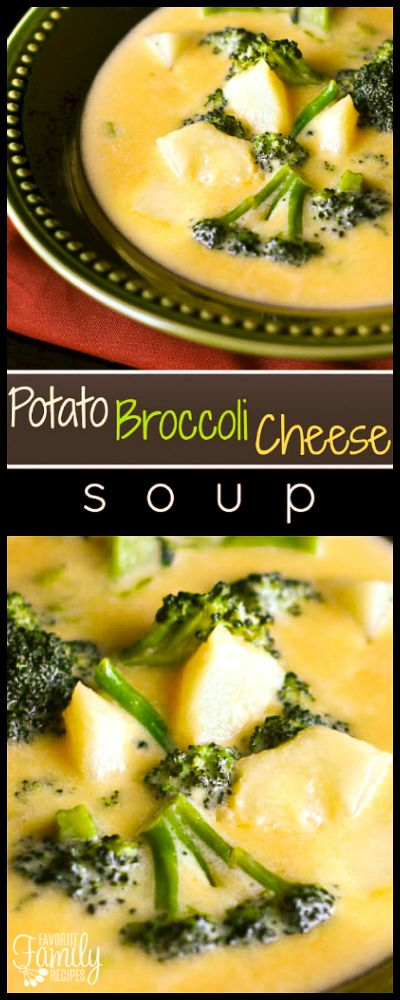 This Potato Broccoli Cheese Soup is loaded with vegetables and cheese. This creamy, flavorful soup really warms you up on cold days. via @favfamilyrecipz