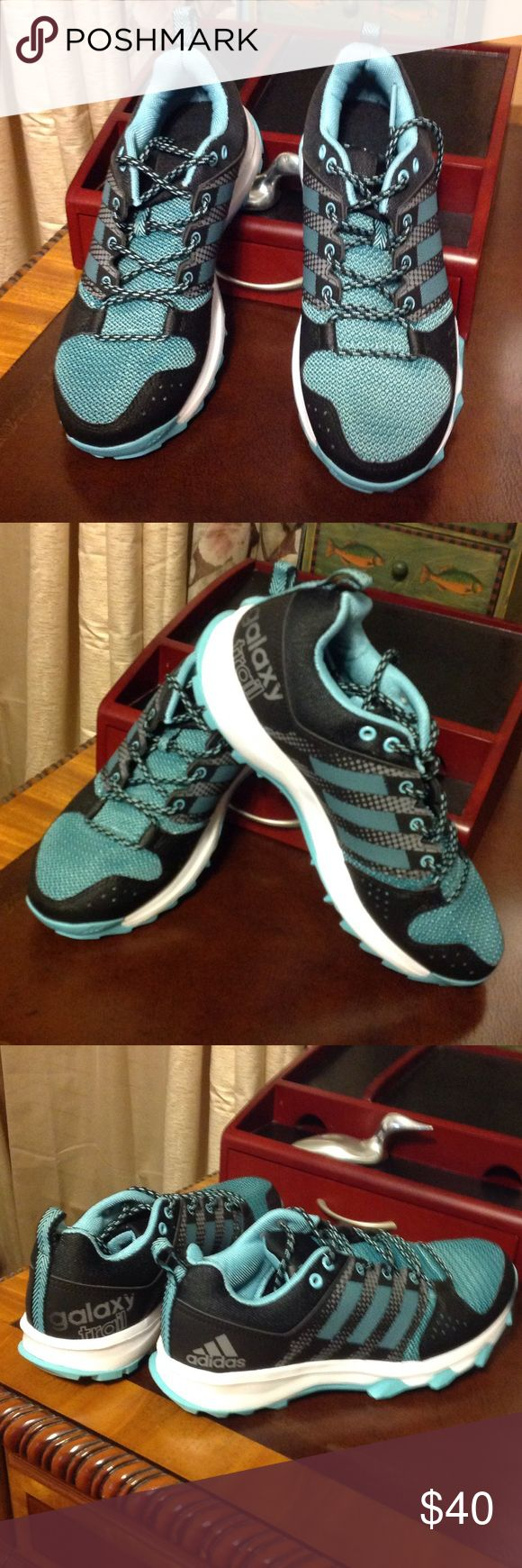 Adidas women's galaxy trail running shoe size 7 Adidas black and green galaxy trail running shoe size 7. Brand new!!💥💥💥 adidas Shoes Athletic Shoes