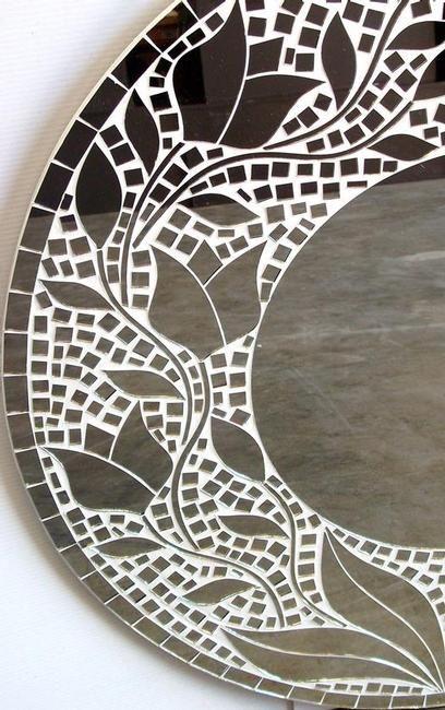 tulip mosaic mirror