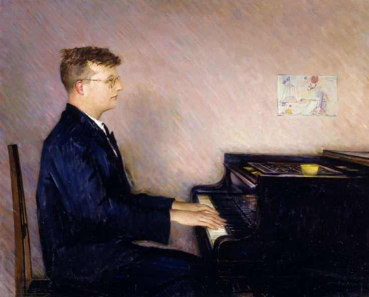 портрет Шостаковича кисти Петра Вильямса