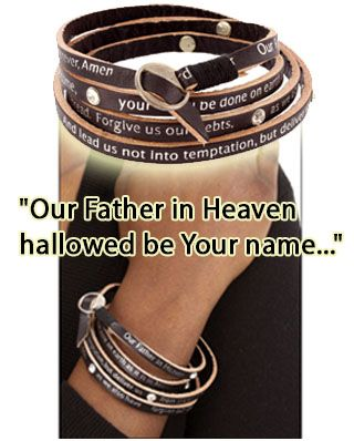 This stylish Lord's Prayer Wrap Bracelet funds 25 cups of food for the hungry!  Click here to help fight hunger => www.jlyou.org/CoolPrayerWrap
