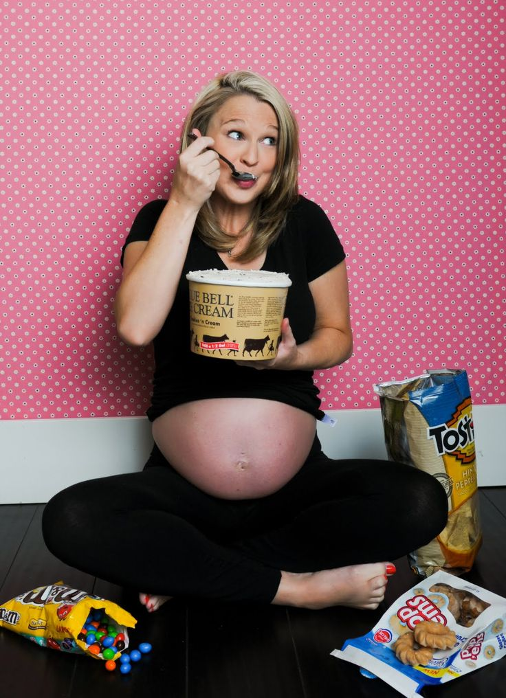 I wish I would have thought to do this! Pregnancy cravings photo. Next time