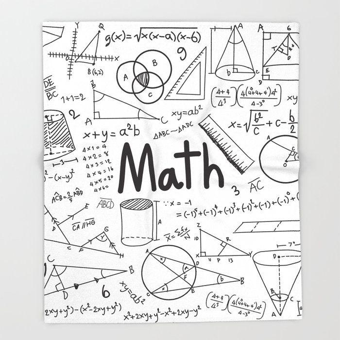 Math Bed Throw Blanket By Jaliart 51 Quot X 60 Quot Blanket Math Notebooks Math Doodles Math Wallpaper
