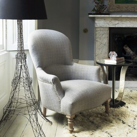 Alfred checked armchair