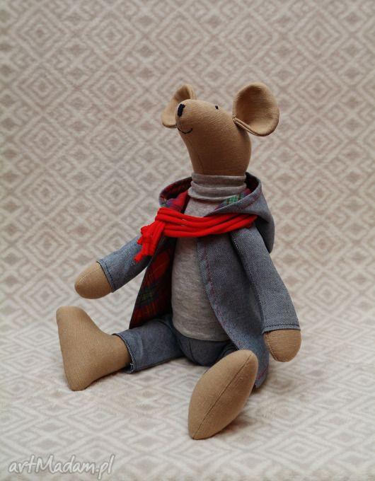 Bliźniak placek czerwonym szaliku lalki millka gryzoń szczurek