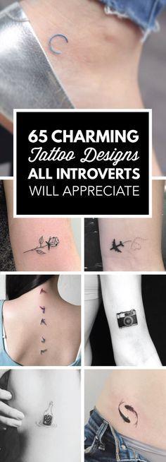 65 tatouages charmant que les introvertis apprécieront !