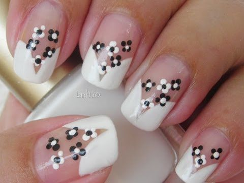 Nail Art - Cute Florecitas - Decoración de Uñas - how to video