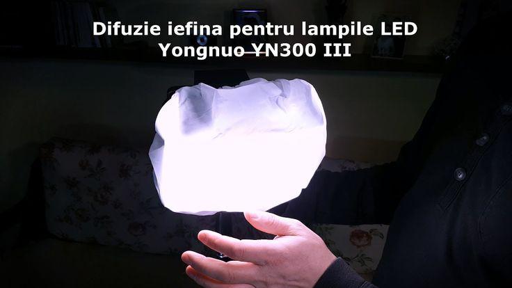 Difuzie iefina pentru lampile LED Yongnuo YN300 III