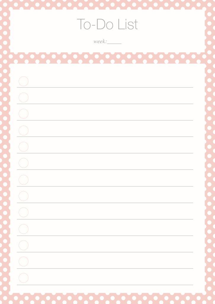 To Do List Freebie - Kathie's Cloud