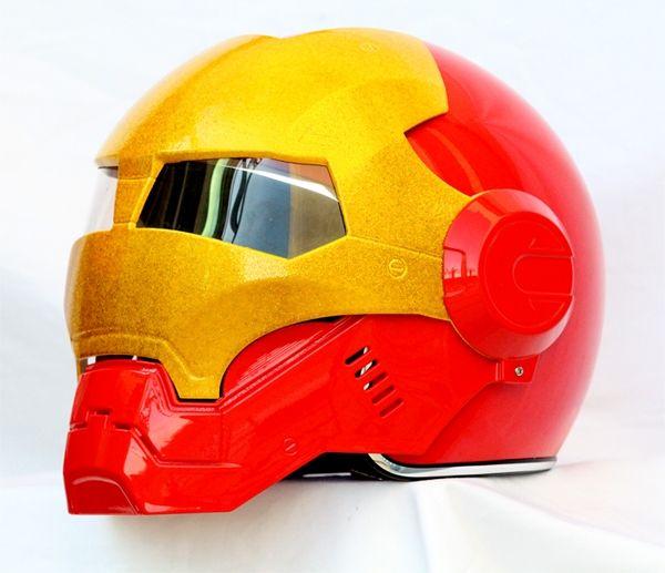 Masei Red Atomic-Man 610 Open Face Motorcycle Helmet Free Shipping for Harley Davidson - sales@maseihelmets.com
