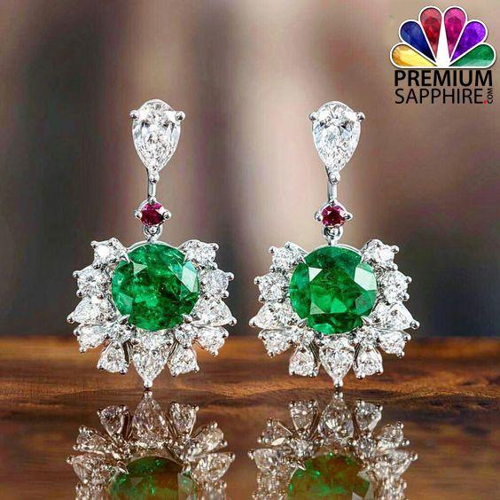 Beautiful Emerald stone earrings gives you stylish look @ http://www.premiumsapphire.com/blog/emerald-gemstone-origin-properties-benefits/