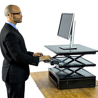 Electric CHANGEdesk   Height Adjustable Standing Desk Conversion