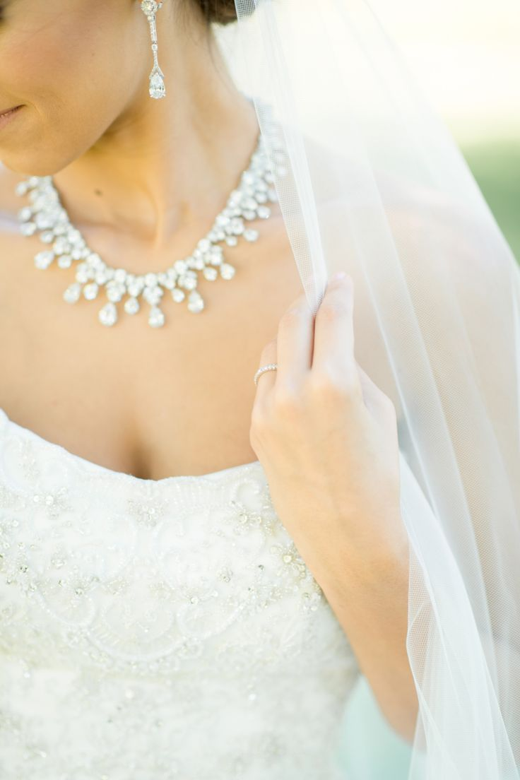 V neck wedding dress with necklace custom made a line round v neck wedding dress with necklace tips for picking wedding jewelry you ll love jewellery ombrellifo Choice Image