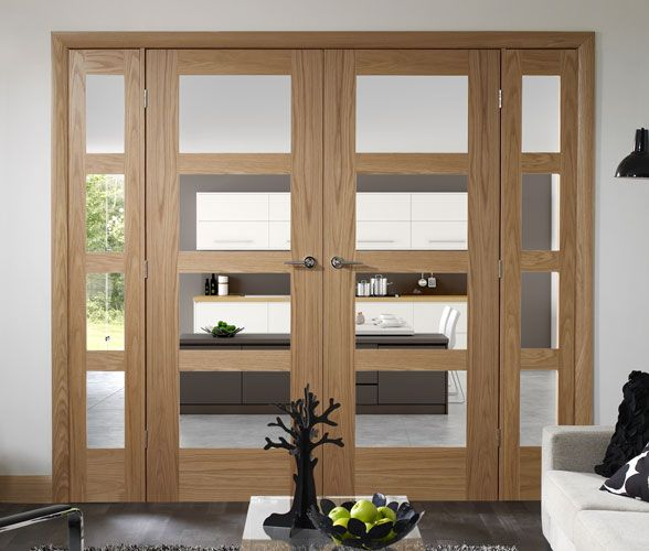 internal oak easi frame room dividers french doors with oak shaker 4 light or pattern 10 or worcester pairs at very special prices call norwich - Room Dividers Ideas