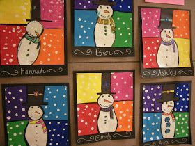 Artolazzi: Warm/Cool Snowmen Paintings