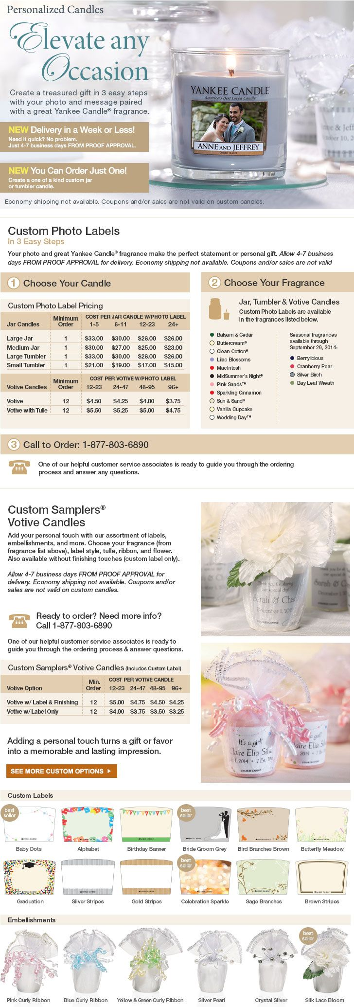 Customized Candles for weddings l Yankee Candle