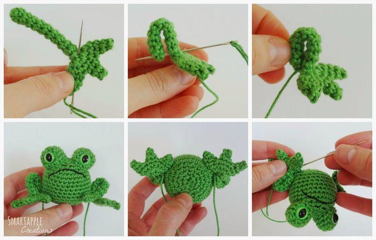 Smartapple Amigurumi and Crochet Creations: Free pattern - Fred the Frog Moss ༺✿ƬⱤღ  https://www.pinterest.com/teretegui/✿༻
