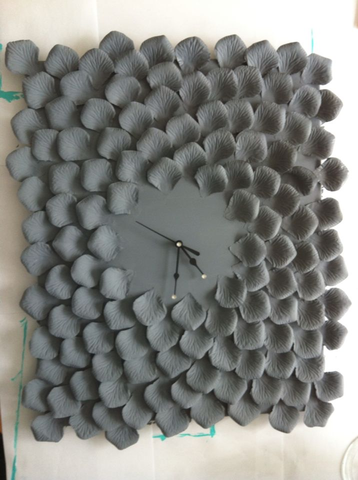 Grey clock home made by me