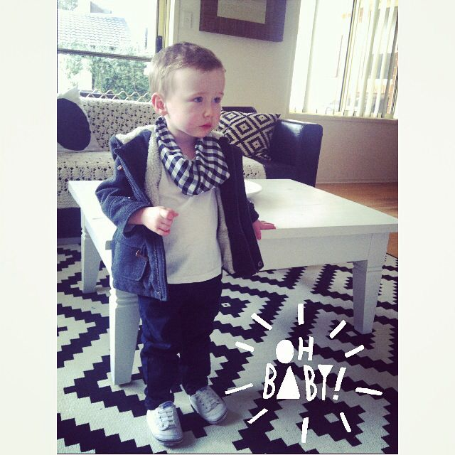 Little man looking super cute in his Sticks + Stones picnic bandana