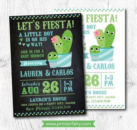 Cactus Baby Shower Invitation, Fiesta Baby Shower, Cactus Invitation, Mexican  Baby Shower Invitation, Digital, 2 Options