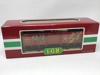 LEHMANN-GROSS-BAHN LGB 4021CT CHRISTMAS GONDOLA CAR GIFT.