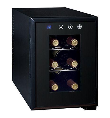Ardes AR5I06V Cave à vin électrique pour 6 Bouteilles 70 W: 3 niveau de 2 bouteilles, système de refroidissement PELTIER thermoélectrique…