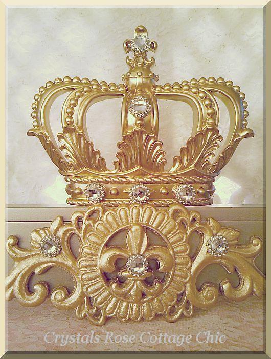 Champagne and Gold Fleur de Lis Teester...Color Choices
