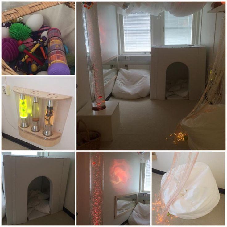 Så här ser vårt Vita rum/sinnesrum ut, som vi är såååå glada överTanken med det…