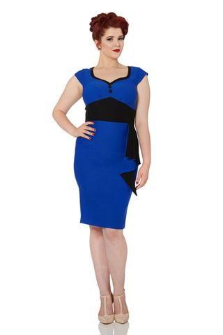 Voodoo Vixen Blue Madelyn Pinup Dress