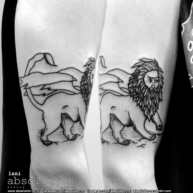 manticore tattoo by our apprentice lani at absolution in christchurch, nz